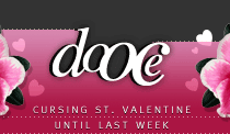 dooce.com Masthead for February 11, 2002 by Heather B. Armstrong titled Cursing St. Valentine Until Last Week