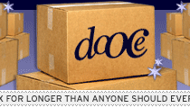 dooce.com Masthead for April 28, 2003 by Heather B. Armstrong titled Living Inside the Box for Longer Than Anyone Should Ever Live Inside the Box