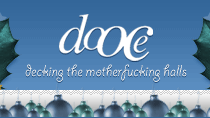 dooce.com Masthead for December, 2003 by Heather B. Armstrong titled Decking the Motherfucking Halls