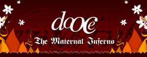 dooce.com Masthead for March, 2004 by Heather B. Armstrong titled The Maternal Inferno