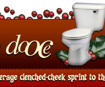 dooce.com Masthead for December, 2004 by Heather B. Armstrong titled Not Your Average Clenched-Check Sprint to the Bathroom