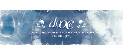 dooce.com Masthead for July 2005 by Heather B. Armstrong titled Counting Down to the Colostomy Since 1975