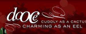 dooce.com Masthead for December, 2005 by Heather B. Armstrong titled Cuddly as a Cactus Charming as an Eel
