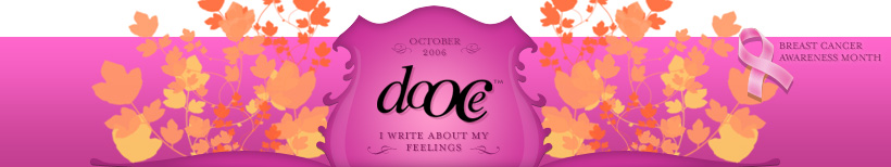 dooce.com Masthead for October, 2006 by Heather B. Armstrong titled I Write About My Feelings