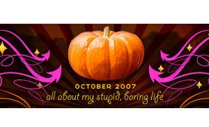 dooce.com Masthead for October 2007