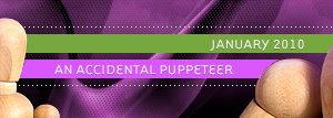 dooce.com Masthead for January, 2010 by Heather B. Armstrong titled An accidental puppeteer