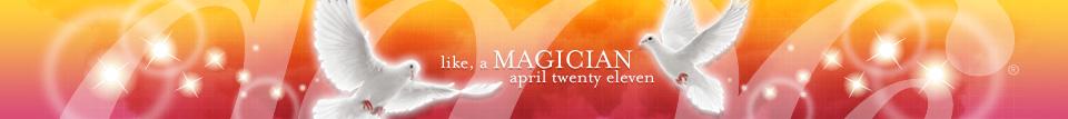 dooce.com masthead for April, 2011 titled, Like a magician