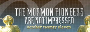 dooce.com Masthead for October, 2011 by Heather B. Armstrong titled The Mormon pioneers are not impressed