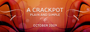 dooce.com Masthead for October, 2009 by Heather B. Armstrong titled A crackpot plain and simple