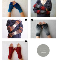 hand-knitted mittens picture by Heather B. Armstrong for dooce.com