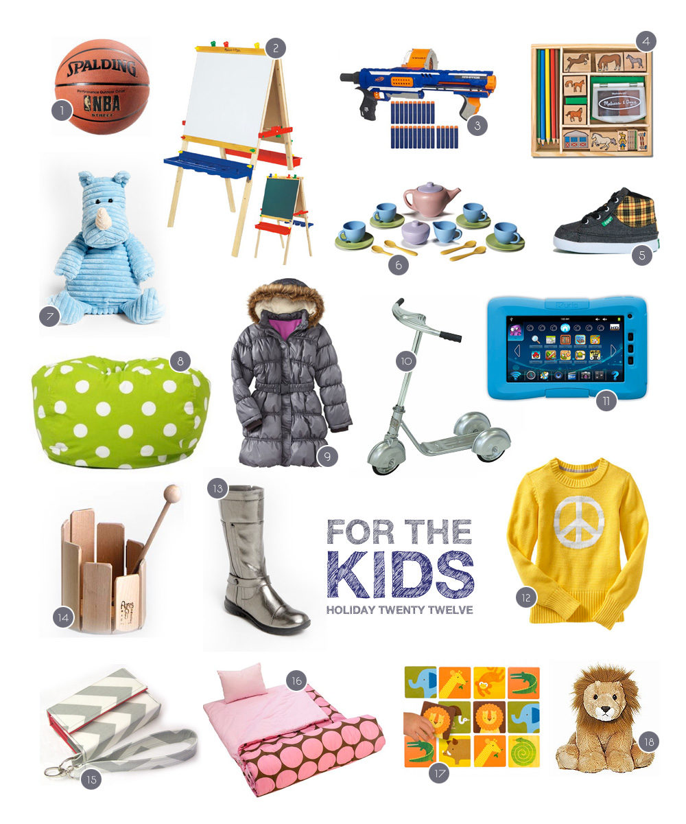 a gift guide for kids for the holiday season by Heather B. Armstrong for dooce.com